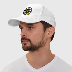 Бейсболка Boston Bruins цвета белый — фото 1