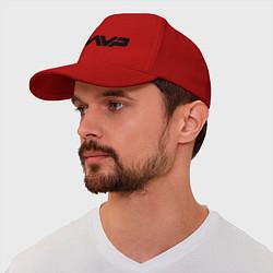 Бейсболка AVP: White Style цвета красный — фото 1