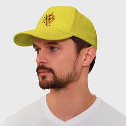 Бейсболка Paul van Dyk: Chaos цвета желтый — фото 1
