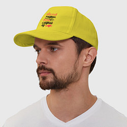 Бейсболка Адская кокетка цвета желтый — фото 1