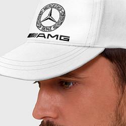 Бейсболка AMG цвета белый — фото 2