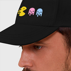 Бейсболка Pac-Man: Fast Eat цвета черный — фото 2