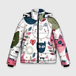 Куртка зимняя для мальчика Funny cats цвета 3D-черный — фото 1