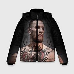 Детская зимняя куртка для мальчика с принтом Conor McGregor, цвет: 3D-черный, артикул: 10102381406063 — фото 1