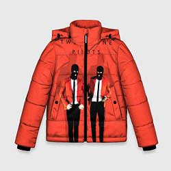 Куртка зимняя для мальчика Twenty One Pilots цвета 3D-черный — фото 1