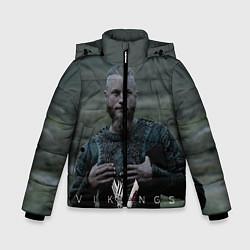 Куртка зимняя для мальчика Vikings: Ragnarr Lodbrok цвета 3D-черный — фото 1