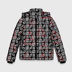 Куртка зимняя для мальчика 30 STM: Symbol Pattern цвета 3D-черный — фото 1