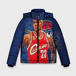 Куртка зимняя для мальчика LeBron 23: Cleveland цвета 3D-черный — фото 1