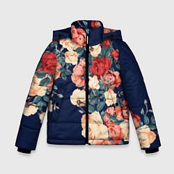 Куртка зимняя для мальчика Fashion flowers цвета 3D-черный — фото 1