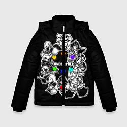 Куртка зимняя для мальчика Undertale 2 цвета 3D-черный — фото 1