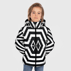 Детская зимняя куртка для мальчика с принтом EXO Geometry, цвет: 3D-черный, артикул: 10106714006063 — фото 2