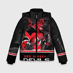 Куртка зимняя для мальчика New Jersey Devils цвета 3D-черный — фото 1