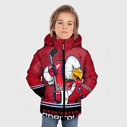 Детская зимняя куртка для мальчика с принтом Washington Capitals, цвет: 3D-черный, артикул: 10106983706063 — фото 2