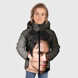 Куртка зимняя для мальчика Ian Somerhalder цвета 3D-черный — фото 2