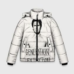 Куртка зимняя для мальчика Generation Extinction цвета 3D-черный — фото 1