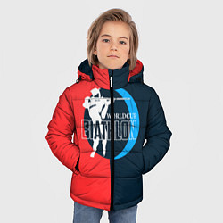 Куртка зимняя для мальчика Biathlon worldcup цвета 3D-черный — фото 2