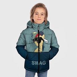 Детская зимняя куртка для мальчика с принтом My SWAG Pony, цвет: 3D-черный, артикул: 10108221806063 — фото 2