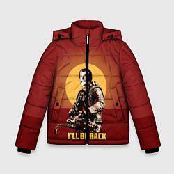 Детская зимняя куртка для мальчика с принтом Stalin: Ill Be Back, цвет: 3D-черный, артикул: 10108286906063 — фото 1