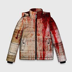 Куртка зимняя для мальчика Бинты 1 цвета 3D-черный — фото 1