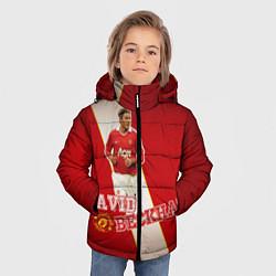 Куртка зимняя для мальчика David Backham цвета 3D-черный — фото 2