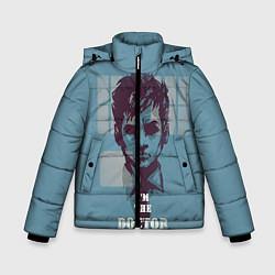 Куртка зимняя для мальчика I'm the doctor цвета 3D-черный — фото 1
