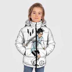 Куртка зимняя для мальчика Messi Young цвета 3D-черный — фото 2
