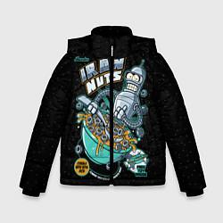 Детская зимняя куртка для мальчика с принтом Iron Nuts, цвет: 3D-черный, артикул: 10113801206063 — фото 1