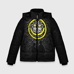Куртка зимняя для мальчика Sherlock Smile цвета 3D-черный — фото 1
