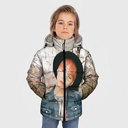 Детская зимняя куртка для мальчика с принтом Min Yoon Gi, цвет: 3D-черный, артикул: 10114633406063 — фото 2