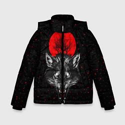 Куртка зимняя для мальчика Кровавая Луна цвета 3D-черный — фото 1