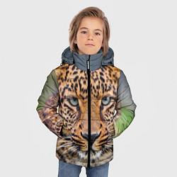 Куртка зимняя для мальчика Грустный леопард цвета 3D-черный — фото 2