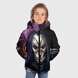 Куртка зимняя для мальчика Mask цвета 3D-черный — фото 2
