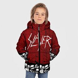 Детская зимняя куртка для мальчика с принтом Slayer Red, цвет: 3D-черный, артикул: 10114909706063 — фото 2