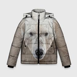 Куртка зимняя для мальчика Белый медведь цвета 3D-черный — фото 1