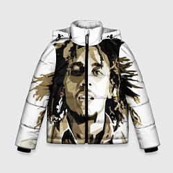 Куртка зимняя для мальчика Bob Marley: Mono цвета 3D-черный — фото 1