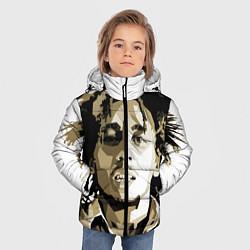 Куртка зимняя для мальчика Bob Marley: Mono цвета 3D-черный — фото 2