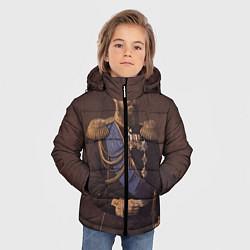 Детская зимняя куртка для мальчика с принтом Александр III Миротворец, цвет: 3D-черный, артикул: 10116754406063 — фото 2