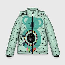 Куртка зимняя для мальчика Мечтающая коала цвета 3D-черный — фото 1