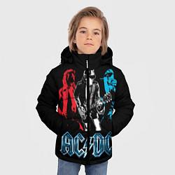 Куртка зимняя для мальчика AC/DC: Ice & Fire цвета 3D-черный — фото 2