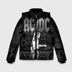 Куртка зимняя для мальчика AC/DC: Rock You цвета 3D-черный — фото 1
