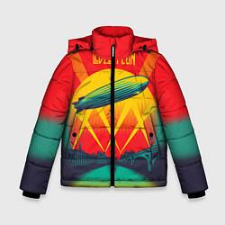 Куртка зимняя для мальчика Led Zeppelin: Hindenburg цвета 3D-черный — фото 1