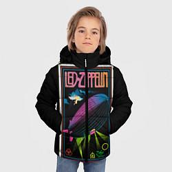 Куртка зимняя для мальчика Led Zeppelin: Angel Poster цвета 3D-черный — фото 2