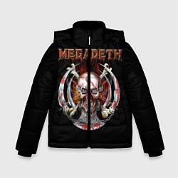 Куртка зимняя для мальчика Megadeth: Skull in chains цвета 3D-черный — фото 1