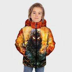 Куртка зимняя для мальчика Disturbed: Monster Flame цвета 3D-черный — фото 2
