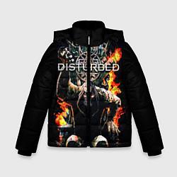 Куртка зимняя для мальчика Disturbed: Flame Throne цвета 3D-черный — фото 1