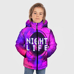 Куртка зимняя для мальчика Night life цвета 3D-черный — фото 2