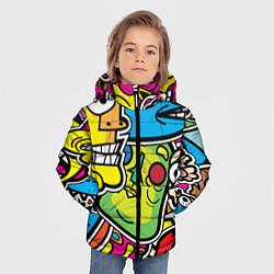 Куртка зимняя для мальчика Стикербомбинг цвета 3D-черный — фото 2