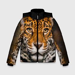 Куртка зимняя для мальчика Взгляд ягуара цвета 3D-черный — фото 1