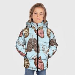Куртка зимняя для мальчика Органы цвета 3D-черный — фото 2