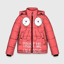 Куртка зимняя для мальчика Доверься Зойдбергу цвета 3D-черный — фото 1